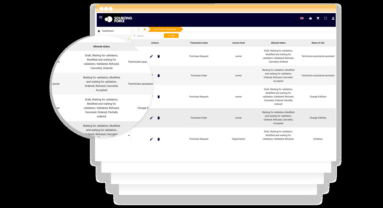 module catalogue fournisseurs